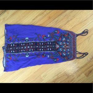 Beautiful royal purple patterned dress !!
